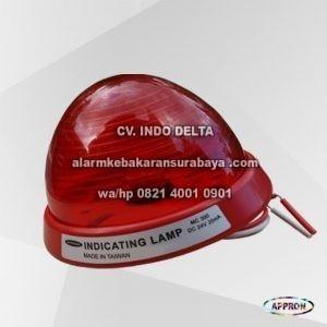 komponen alarm kebakaran Indicating Lamp MC - 300 Appron surabaya (2)