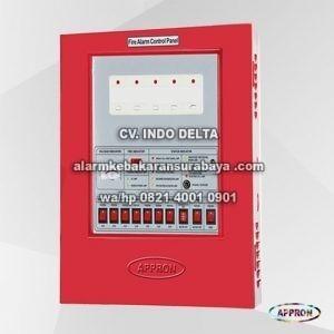 kontrol panel utama alarm kebakaran 1 ZONE SN 2001 Appron surabaya