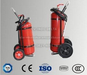 apar powder 25 kg trolley serbuk dry chemical besar baru bersertifikat bergaransi