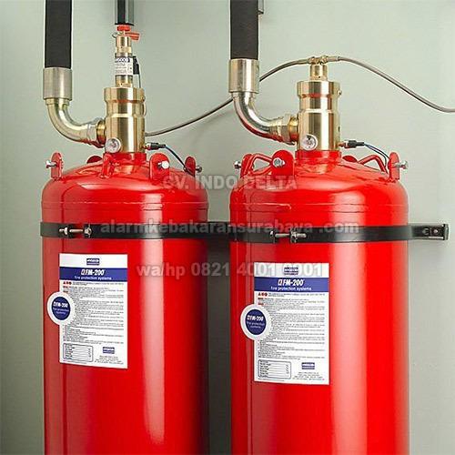 Refill fm200 LIQUID GAS HCFC 227EA pemadam otomatis deteksi kebakaran